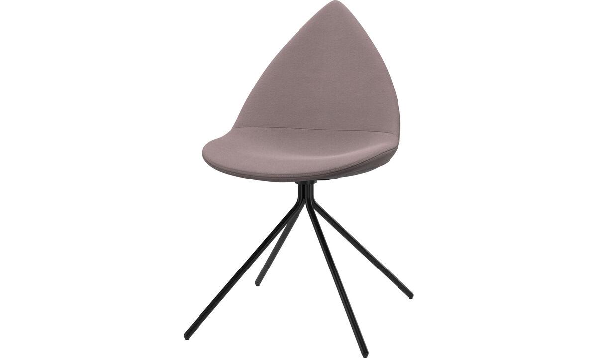 Krzesła do jadalni - Krzesło Ottawa - Purpurowy - Tkanina