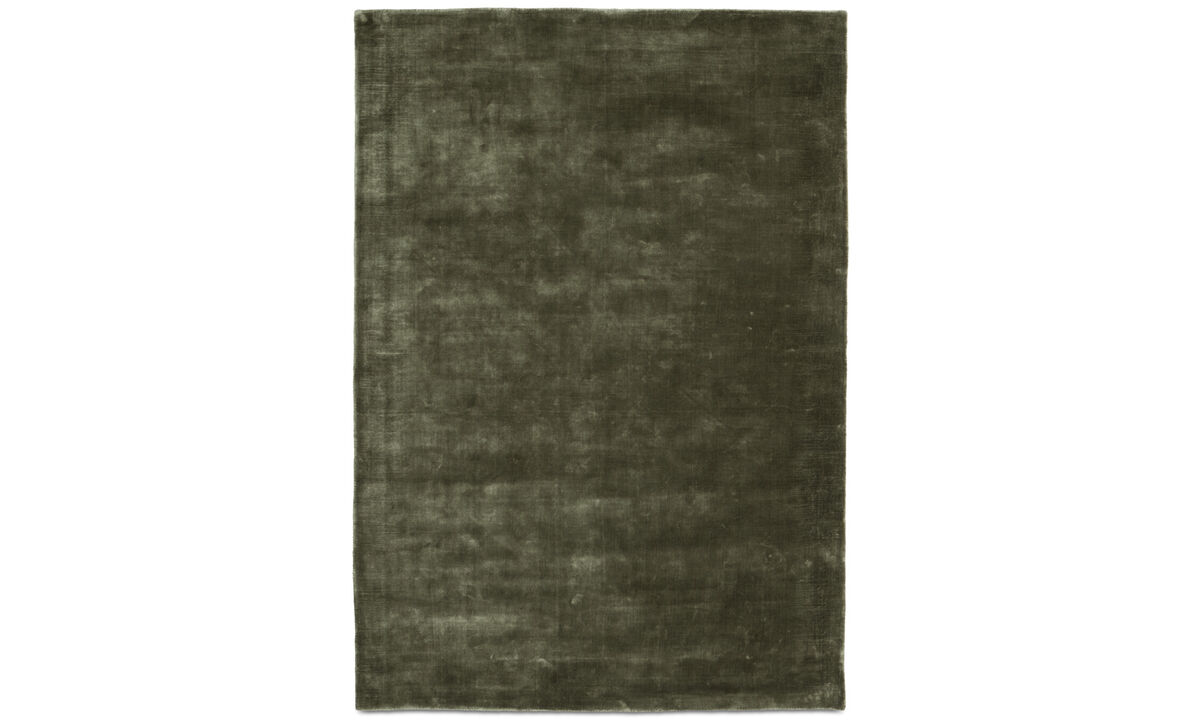 Rectangular rugs - Loom rug - rectangular - Green - Tencel