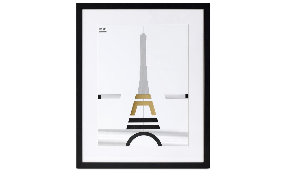 New designs - Paris art on paper - Wood