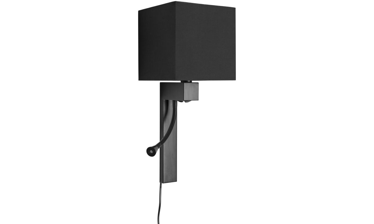 Wall lamps - Quadro wall lamp - Black - Metal