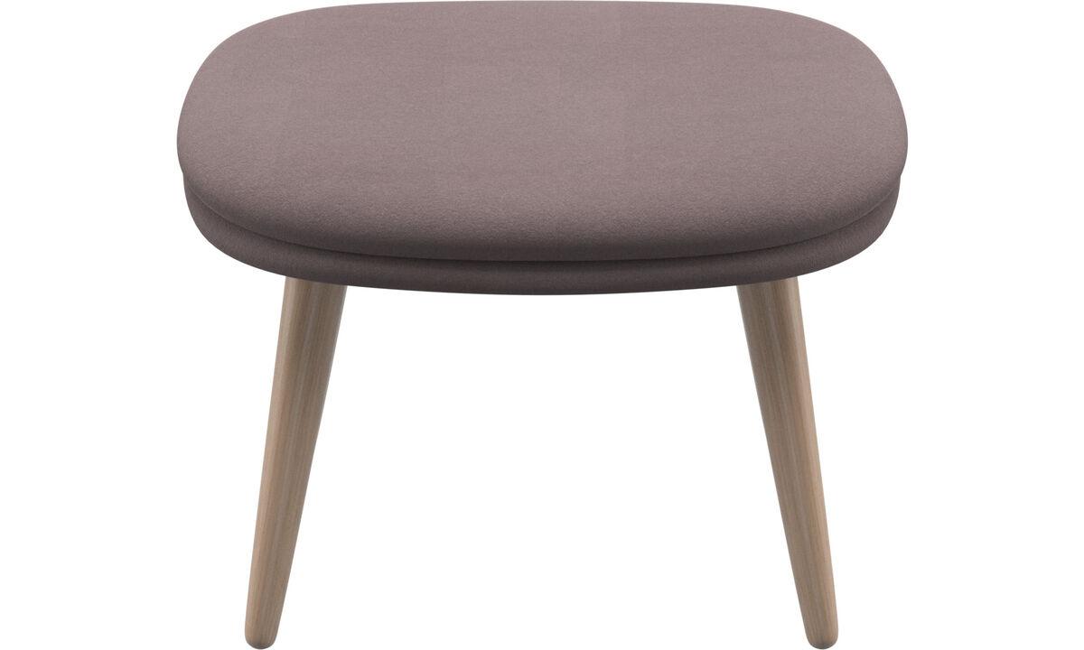 Footstools - Adelaide footstool - Purple - Fabric
