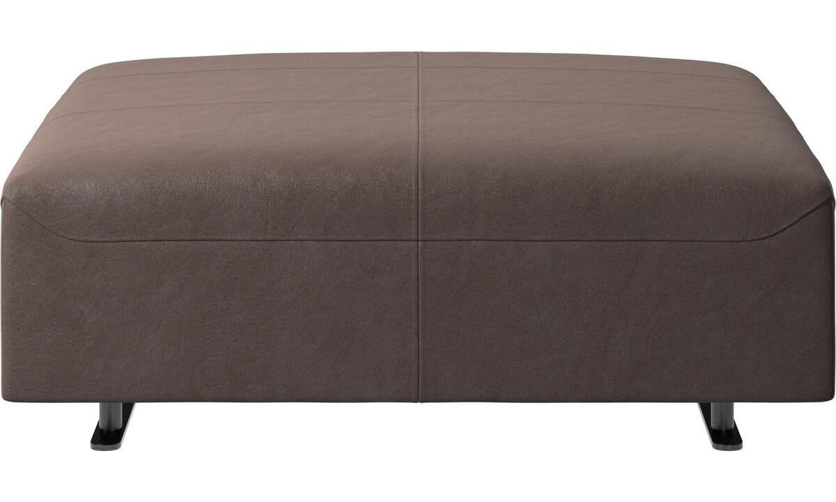Footstools - Hampton footstool - Brown - Leather