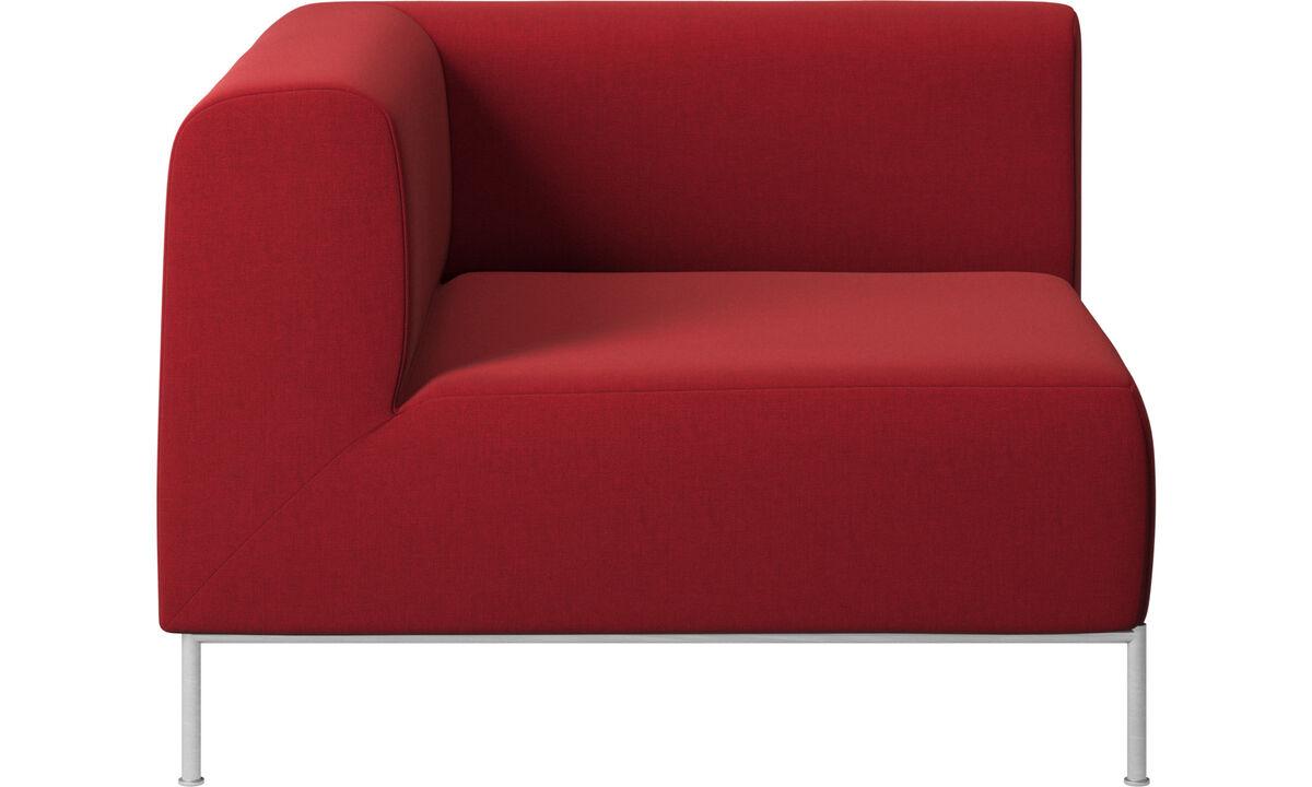 Modulære sofaer - Miami hjørnemodul venstre side - Rød - Stof