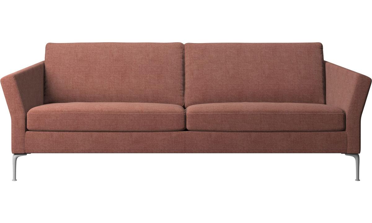 Sofás de 3 plazas - sofá Marseille - Rojo - Tela