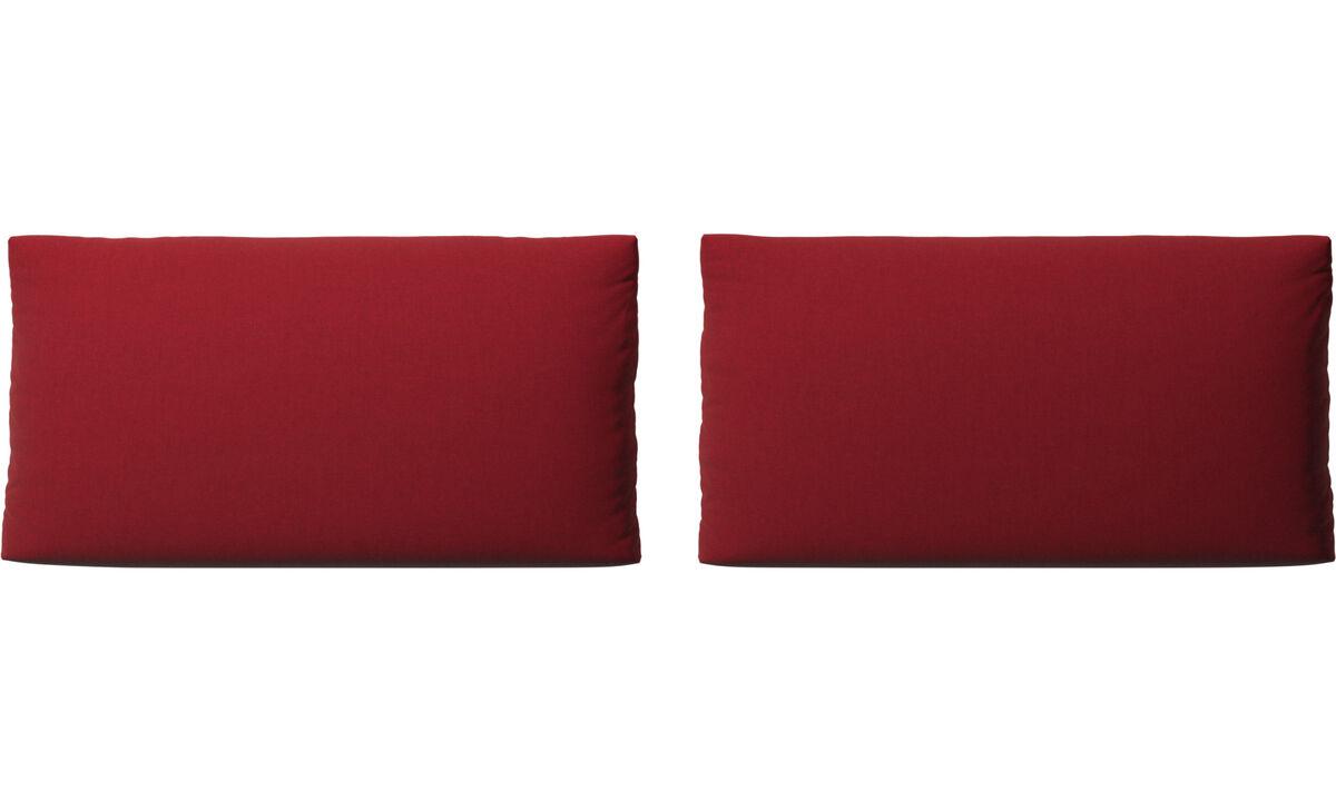 Acessórios para móveis - Almofadas para Sofa Nantes - Vermelho - Tecido