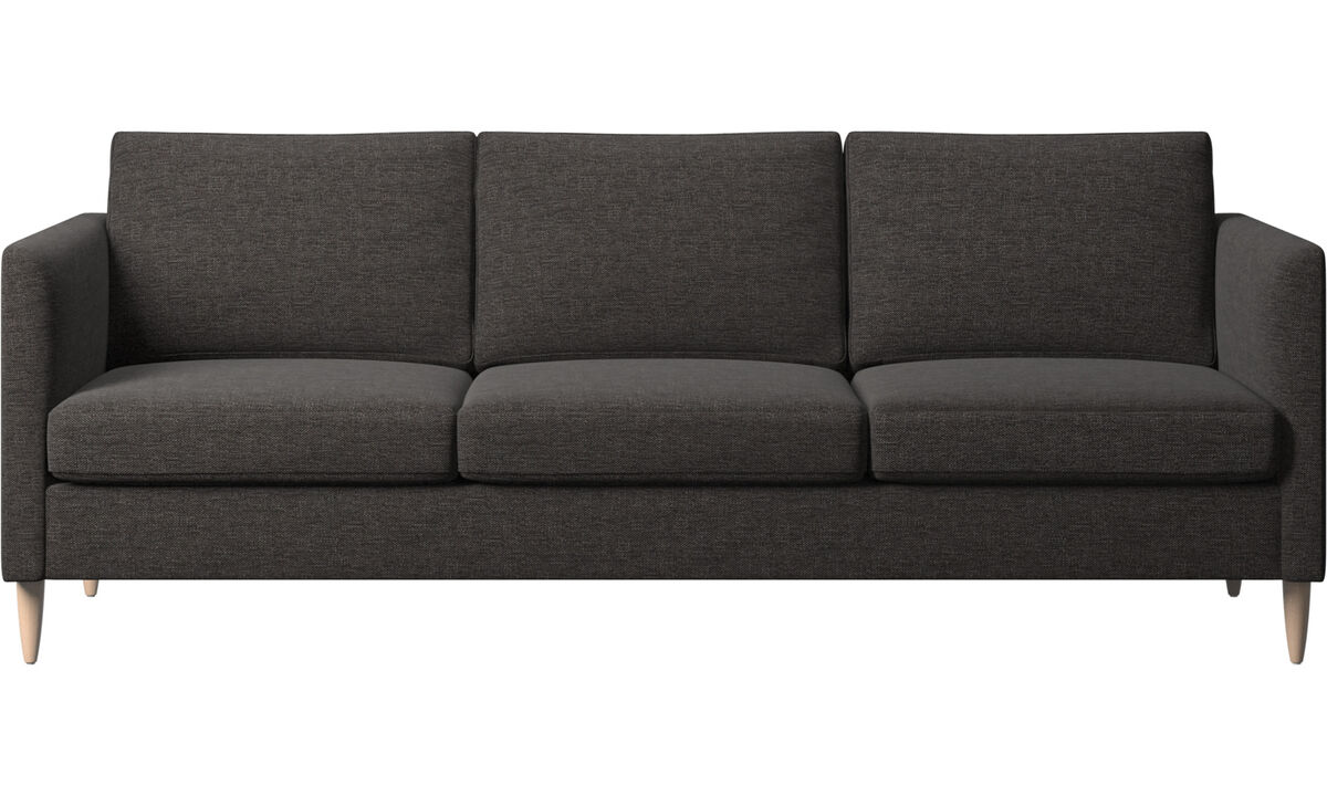 3 seater sofas - Indivi sofa - Black - Fabric