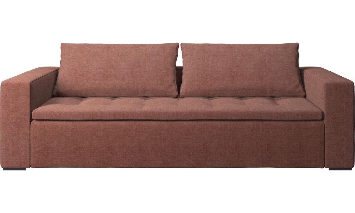 Sofás de 3 lugares - Sofá Mezzo - Vermelho - Tecido