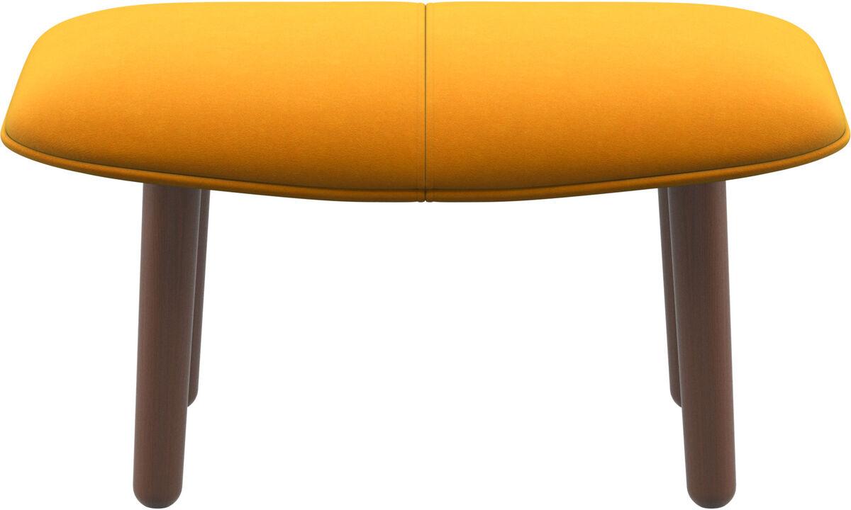 Footstools - fusion footstool - Orange - Fabric