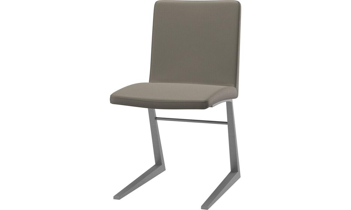 Sillas de comedor - silla Mariposa Deluxe - En gris - Piel