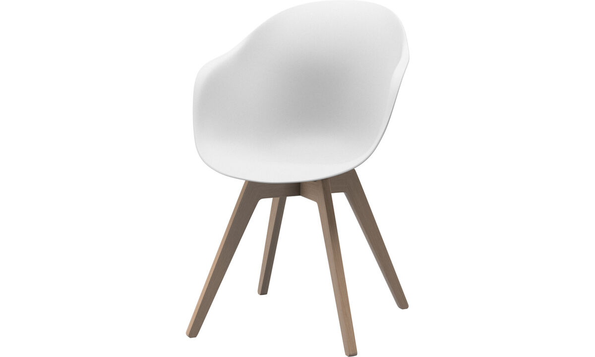 Dining chairs - Adelaide chair - White - Oak