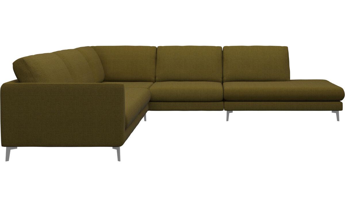 Sofas with open end - Fargo divano ad angolo con modulo relax - Giallo - Tessuto