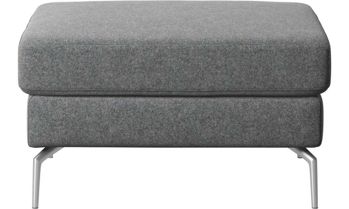 Ottomans - Osaka footstool, regular seat - Gray - Fabric