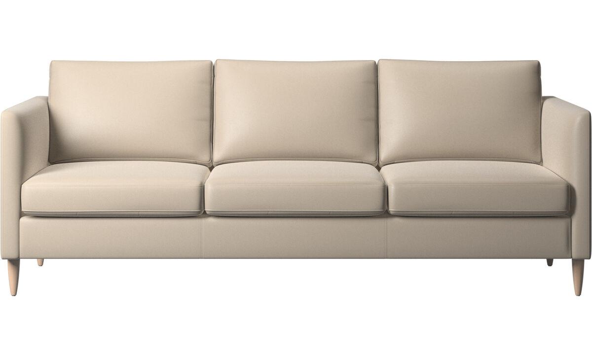 3 seater sofas - Indivi sofa - Beige - Leather
