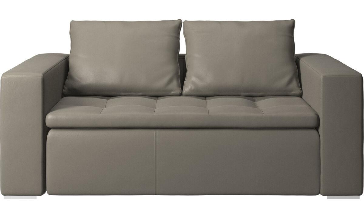 2 seater sofas - Mezzo sofa - Grey - Leather