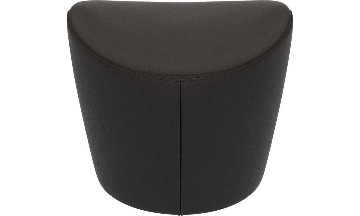 Footstools - Rico footstool - Brown - Leather
