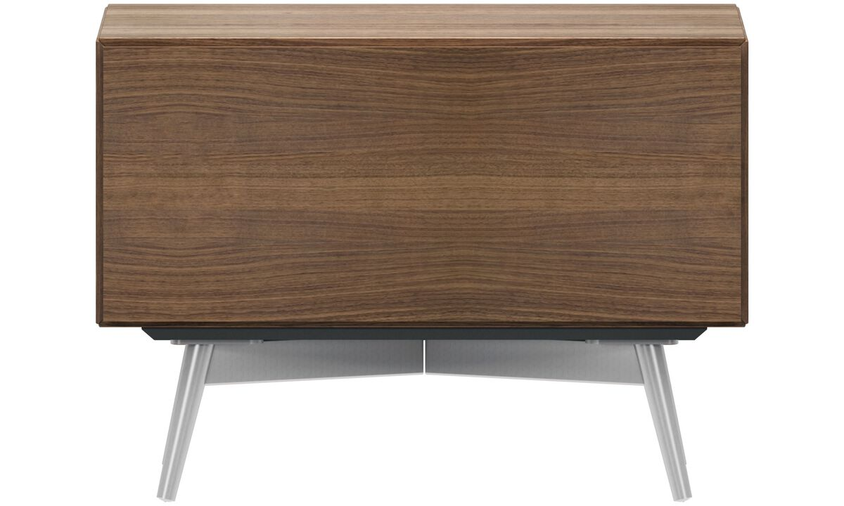 Night stands - Lugano night stand - rectangular - Brown - Walnut