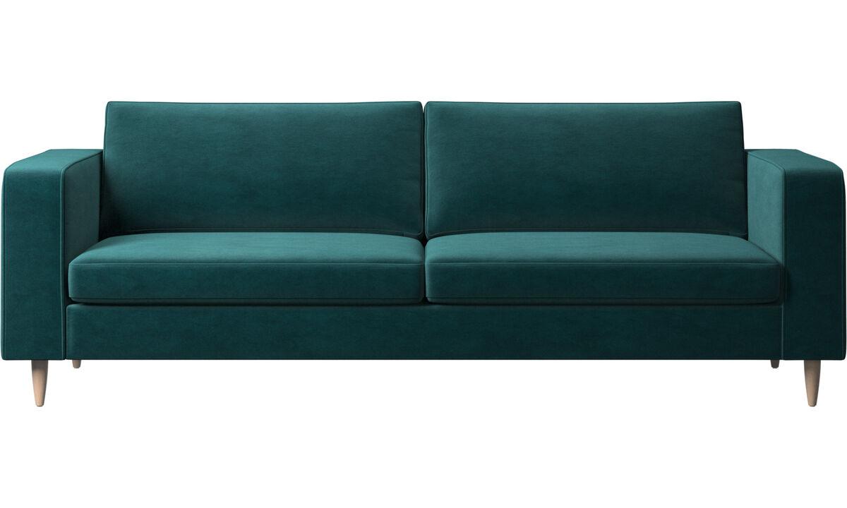3 θέσιοι καναπέδες - Καναπές Indivi 2 - Μπλε - Ύφασμα