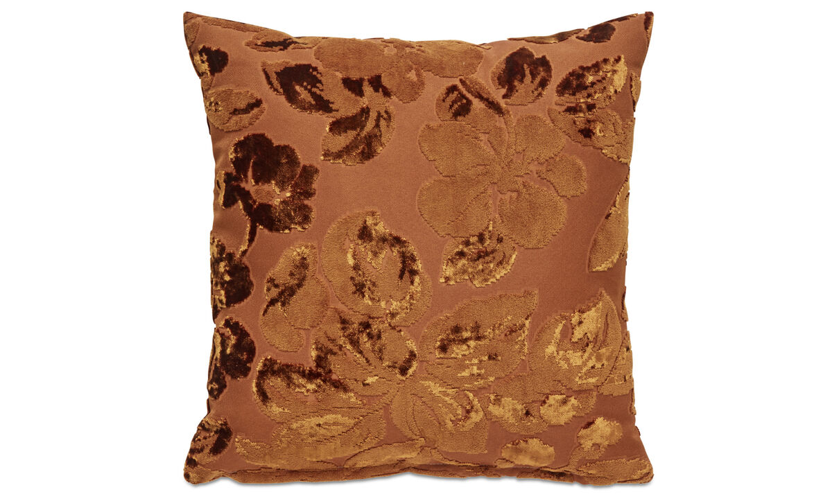 Patterned cushions - Flower cushion - Red - Fabric