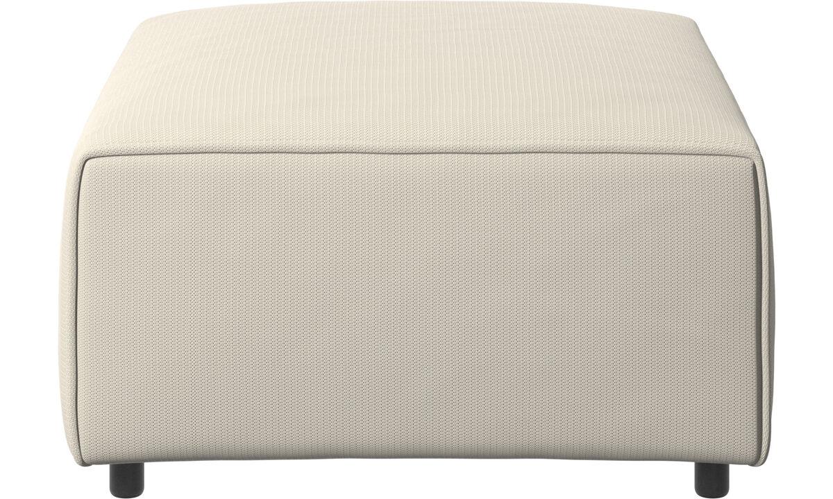 Modular sofas - Carmo ottoman - White - Fabric