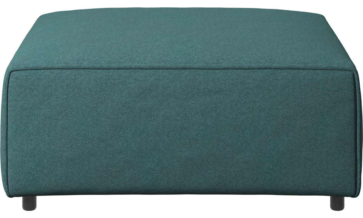 Armchairs and footstools - Carmo footstool - Green - Fabric