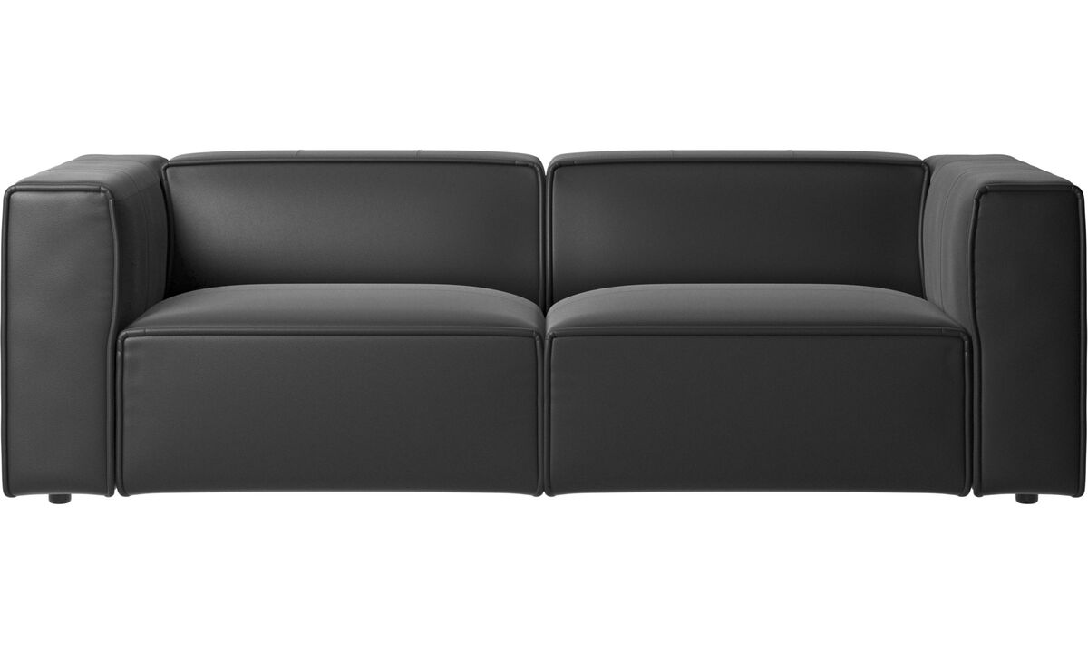 Recliner sofas - Carmo motion sofa - Black - Leather