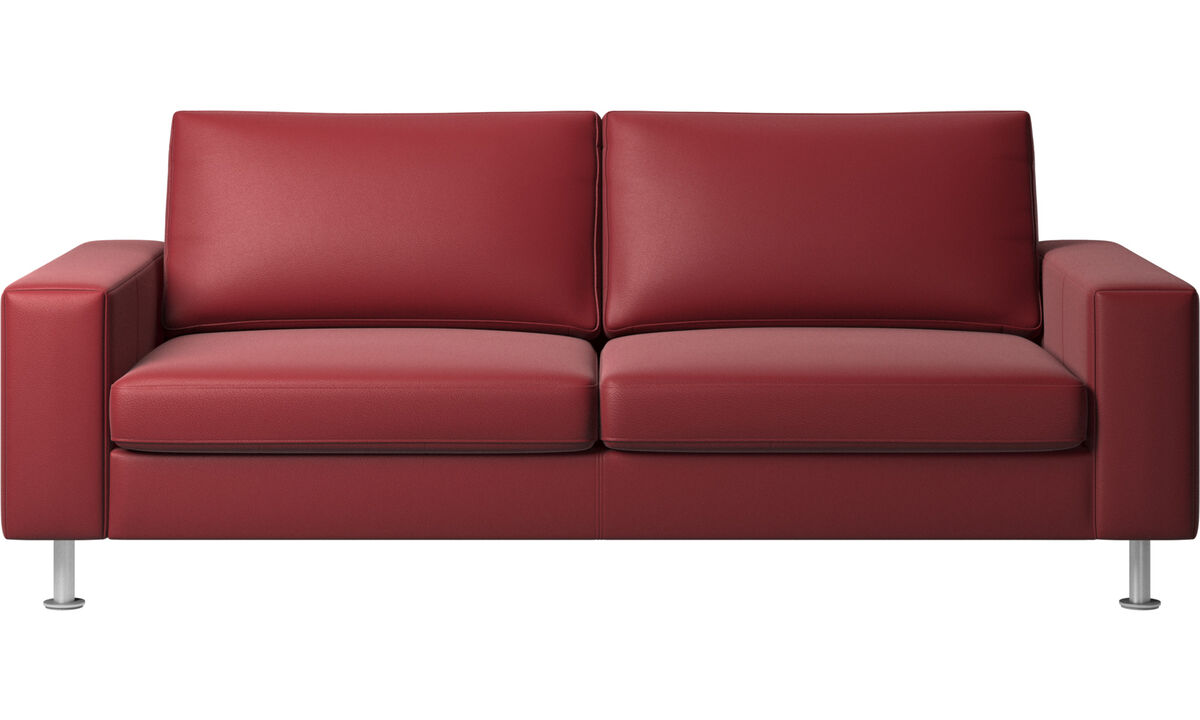 Sofa beds - Indivi sofa bed - Red - Leather
