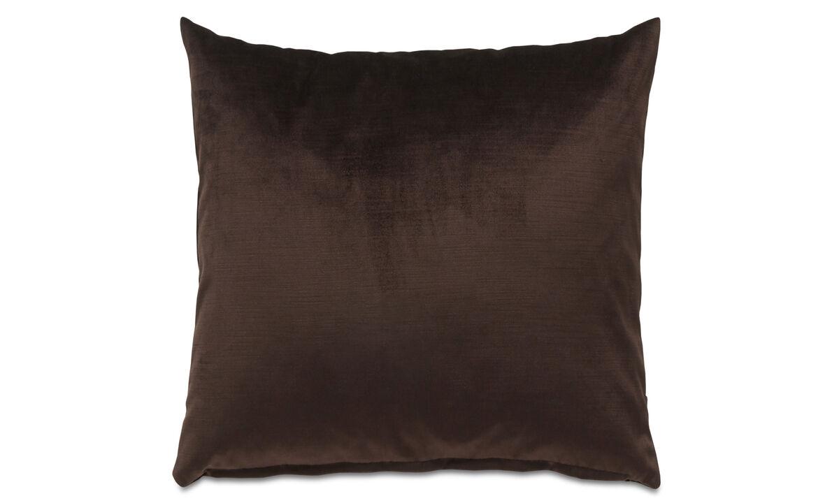 Almofadas - almofada Velvet - Marrom - Tecido