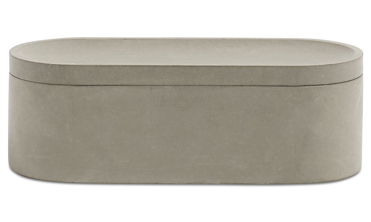 Small storage - Vasetto con coperchio Living - Grigio - Cemento