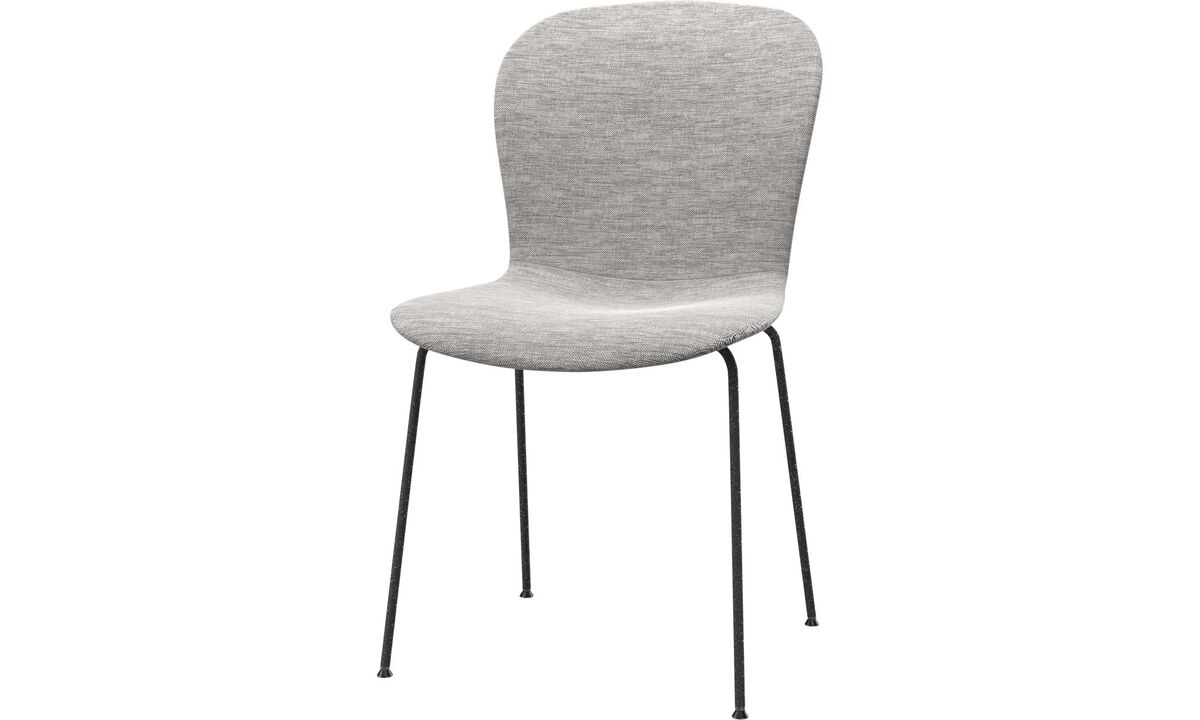 Dining chairs - poltroncina Adelaide - Grigio - Tessuto