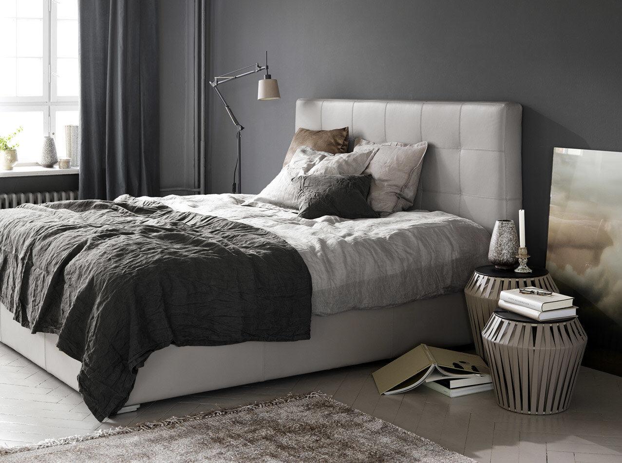 Camas grises - Cama con canapé Mezzo, estructura elevable y tablado, no incluye colchón