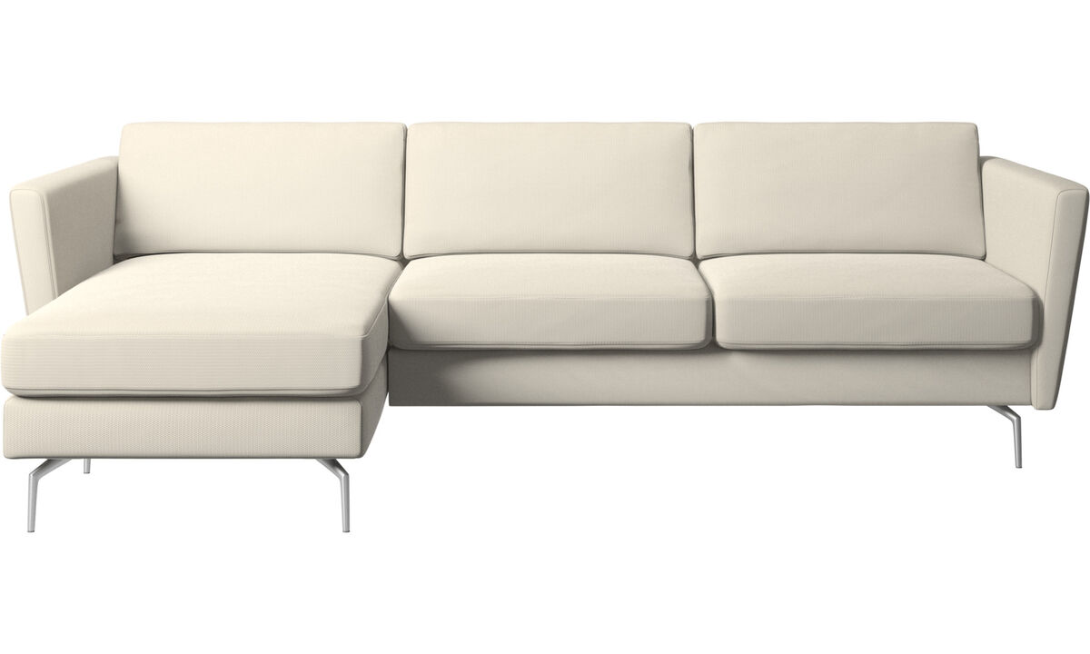 New designs - Osaka sofa with resting unit, regular seat - White - Fabric