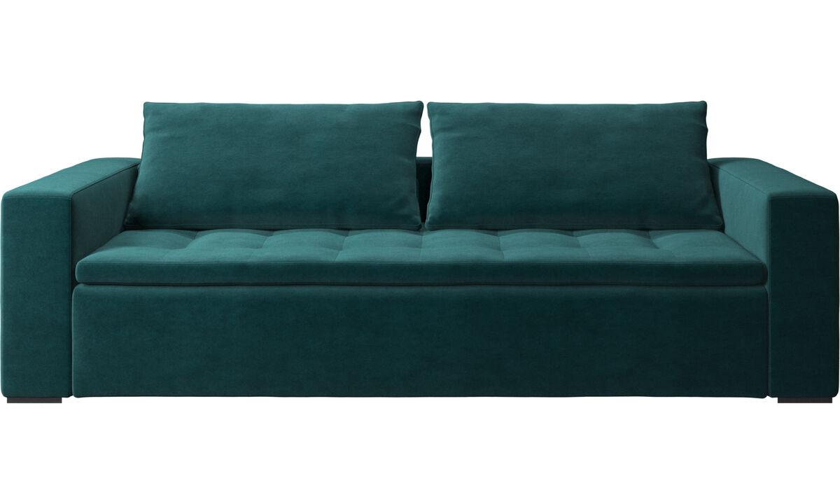 3 seater sofas - Mezzo sofa - Blue - Fabric