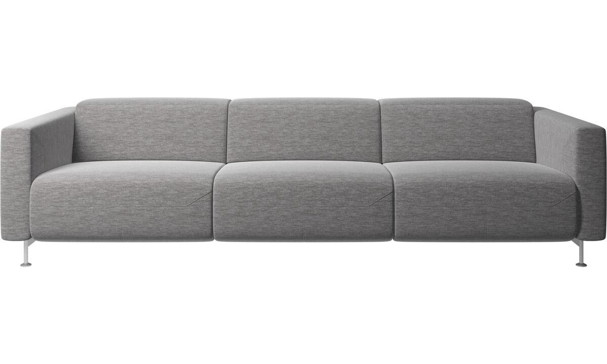 Sofás reclinables - Sofá reclinable Parma - En gris - Tela
