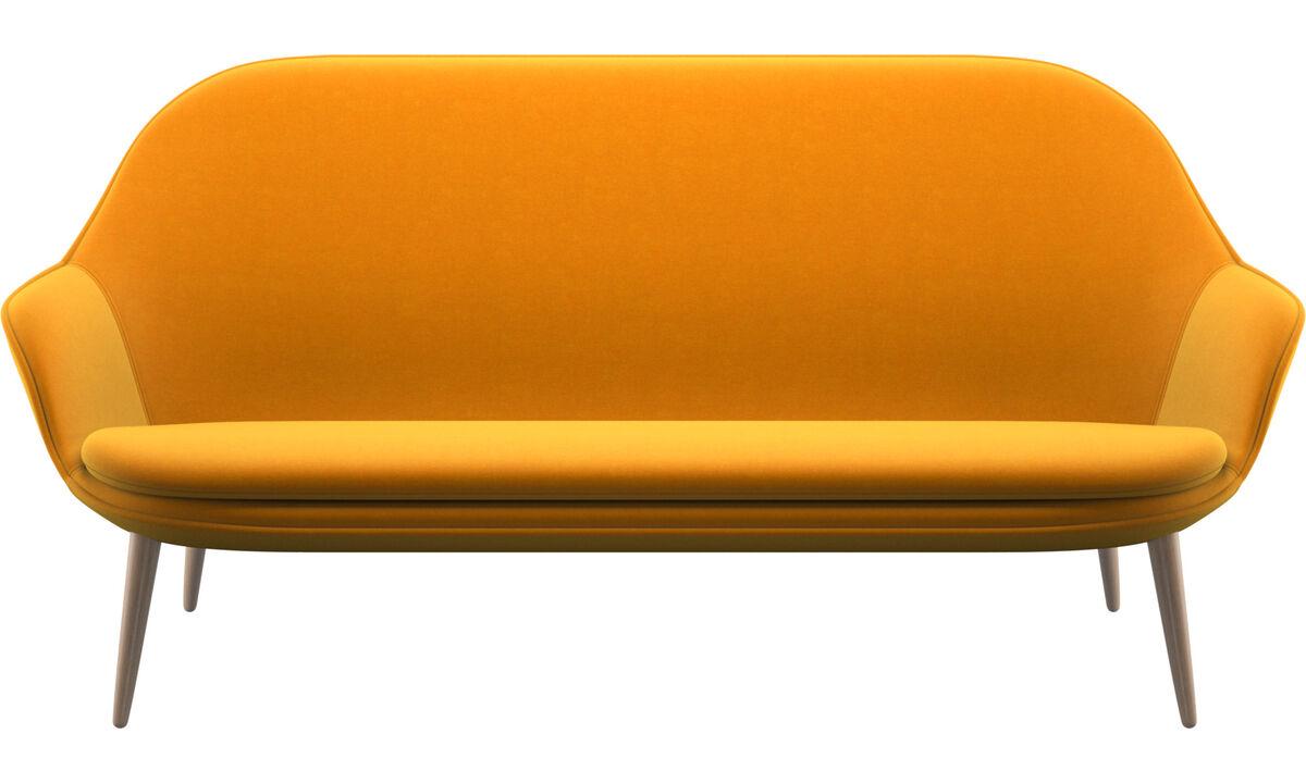 2.5 seater sofas - Adelaide sofa - Orange - Fabric