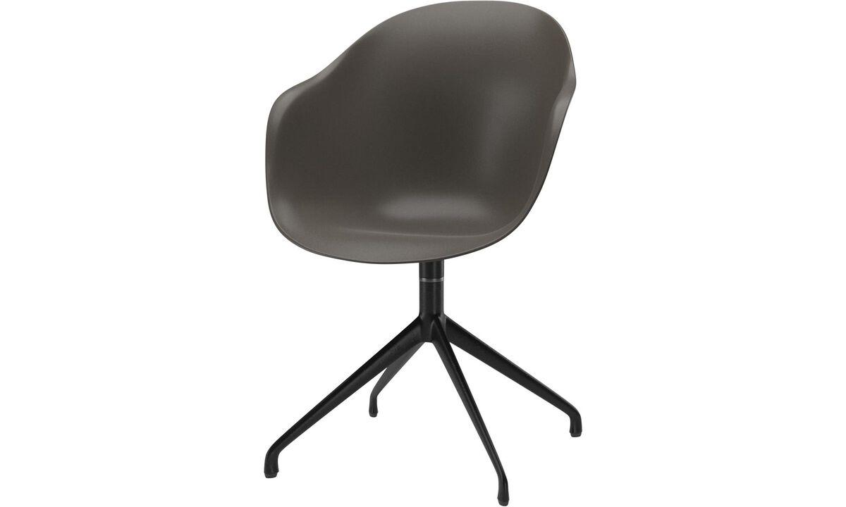 Chaises de salle à manger - chaise Adelaide avec fonction pivotante - Vert - Laqué