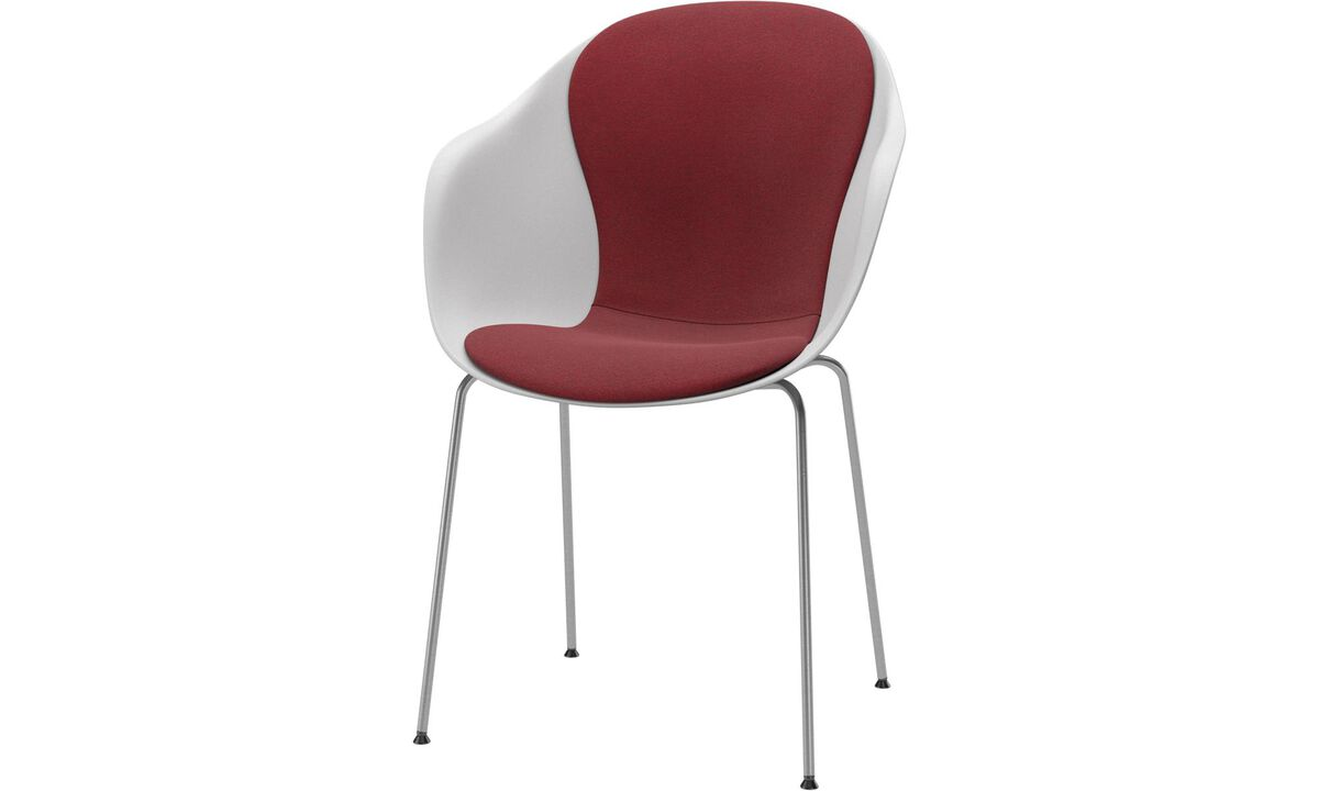 Dining chairs - Adelaide chair - Red - Fabric