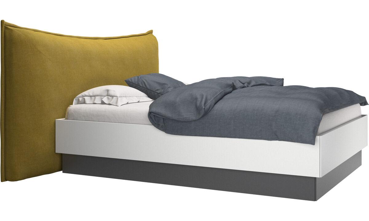 Nuevas camas - cama con canapé, estructura elevable y tablado, no incluye colchón Gent - En amarillo - Tela