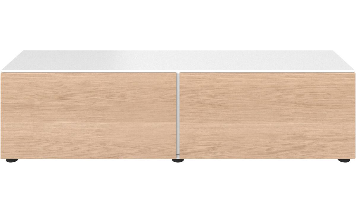Tv units - Lugano base cabinet with drop down doors - Oak