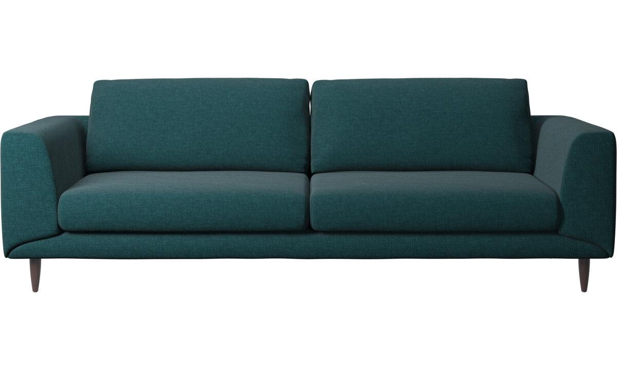 Sofás de 3 plazas - sofá Fargo - En azul - Tela