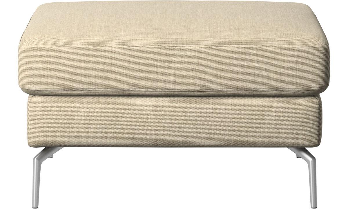 Footstools - Osaka footstool, regular seat - Brown - Fabric