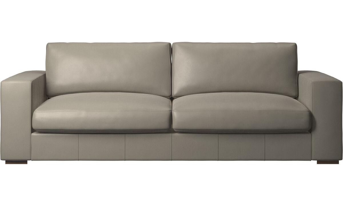 3 seater sofas - Cenova sofa - Grey - Leather