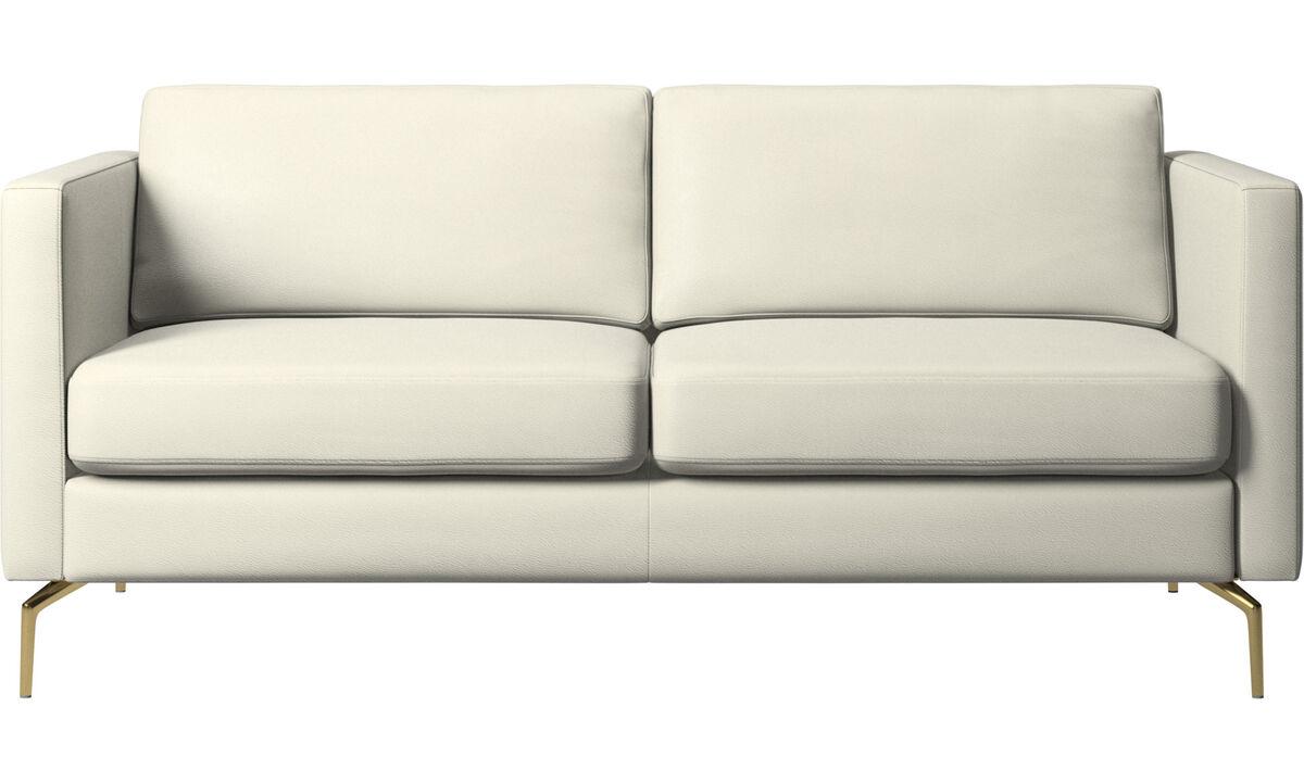 2 seater sofas - Osaka sofa, regular seat - Beige - Leather