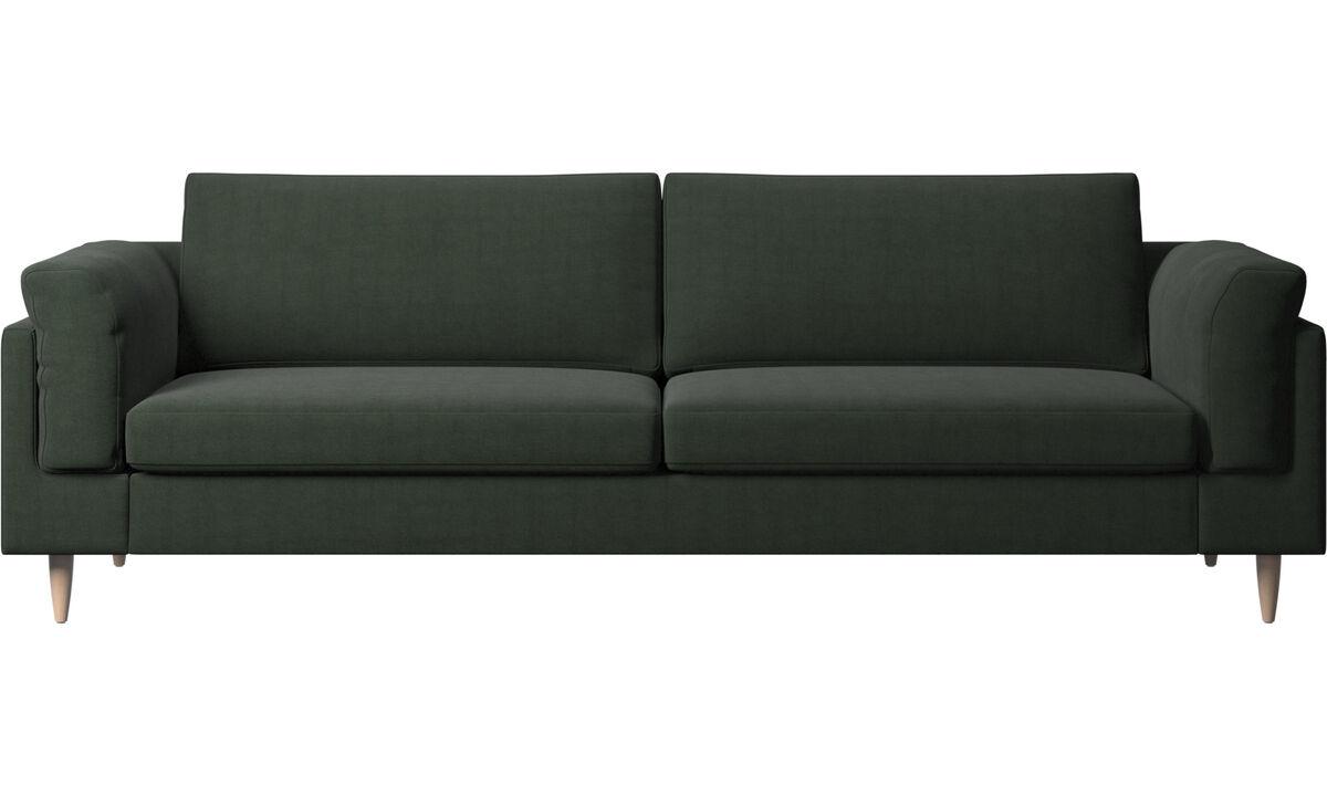 三人座沙发 - Indivi 2 沙发 - 绿色 - 布艺