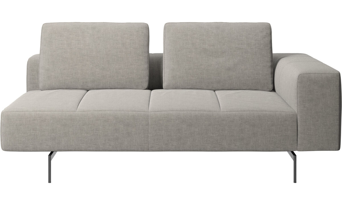 2.5 seater sofas - Amsterdam 2.5 seating module, armrest right - Gray - Fabric