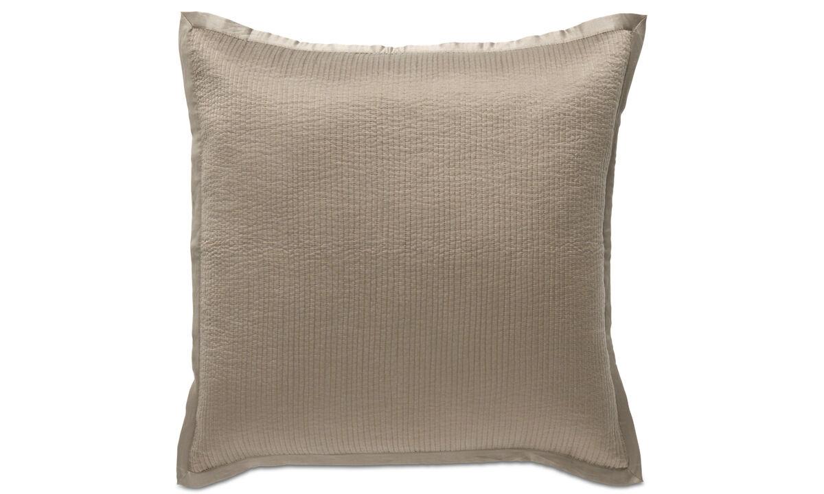 Almofadas estampadas - almofada Pause - Cinza - Tecido