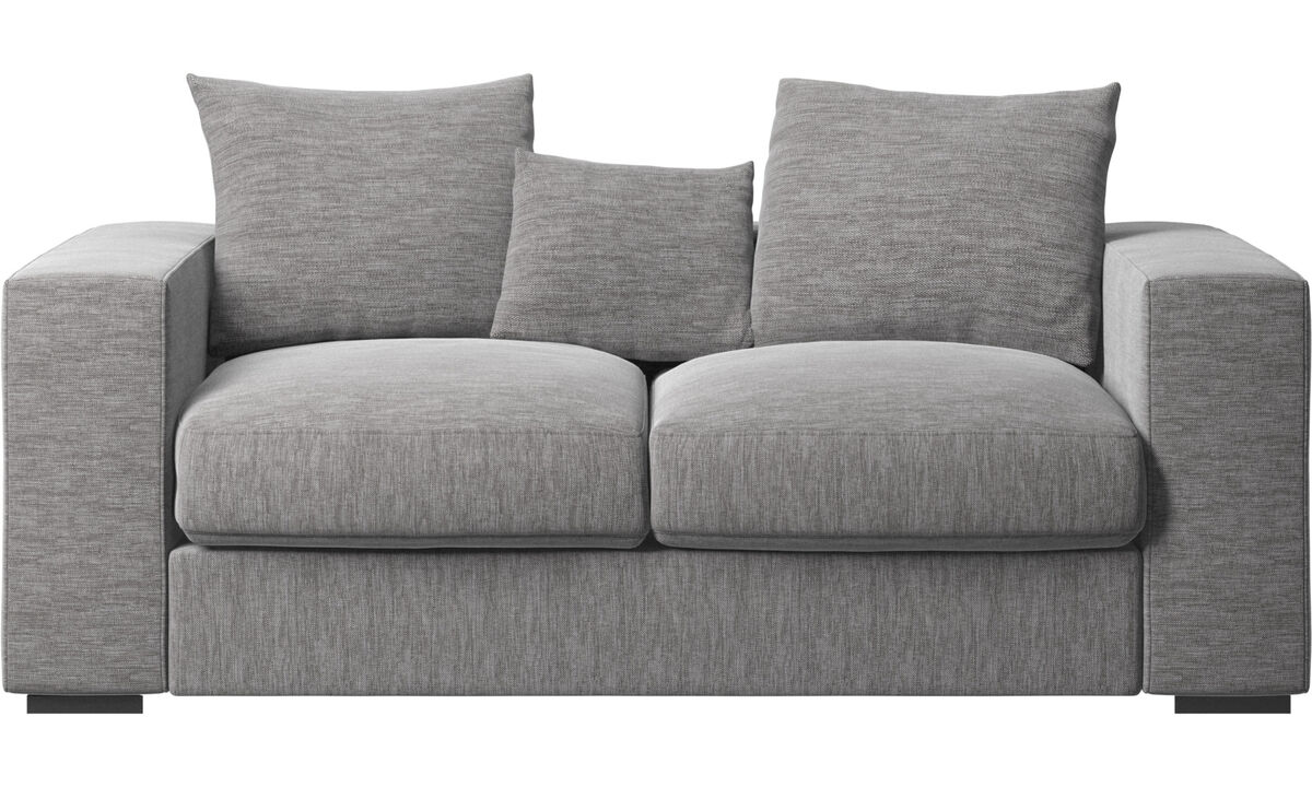 2 seater sofas - Cenova sofa - Grey - Fabric