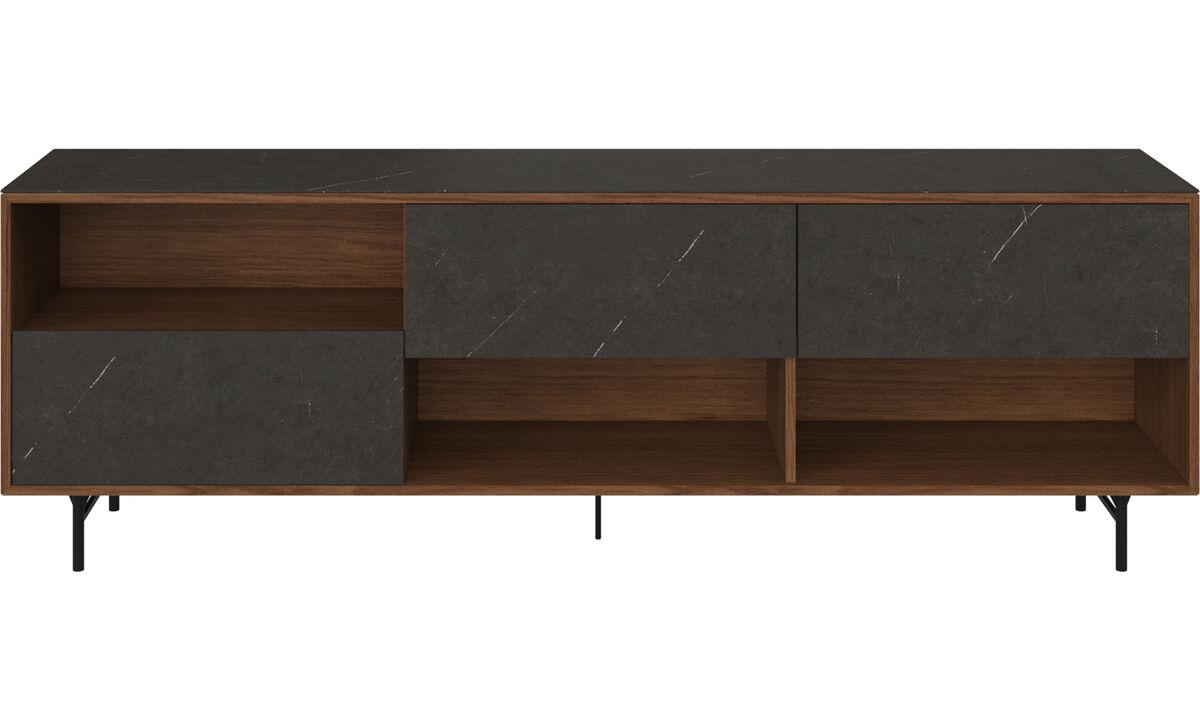 Sideboards - Manhattan sideboard with top plate - Black - Walnut