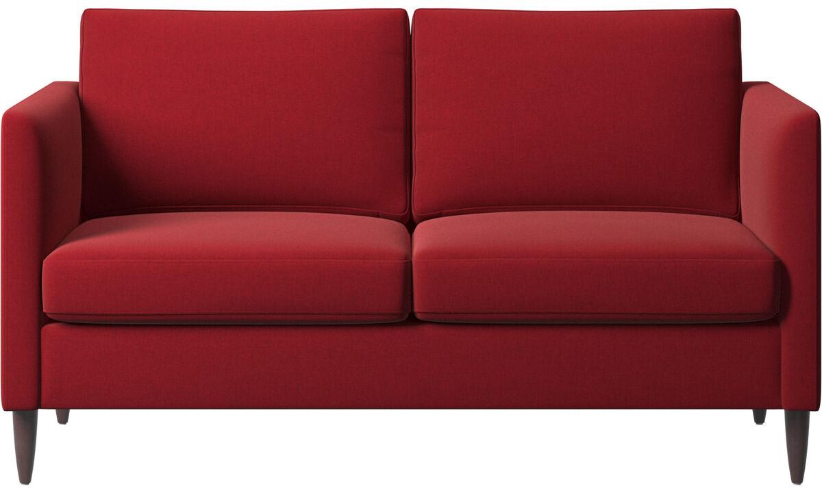 2 seater sofas - Indivi sofa - Red - Fabric