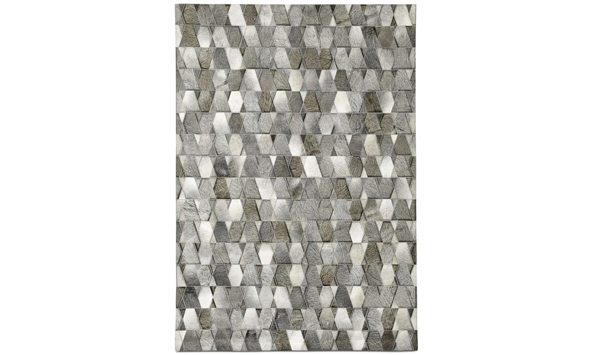 Leather rugs - Tait rug - rectangular - Grey - Leather