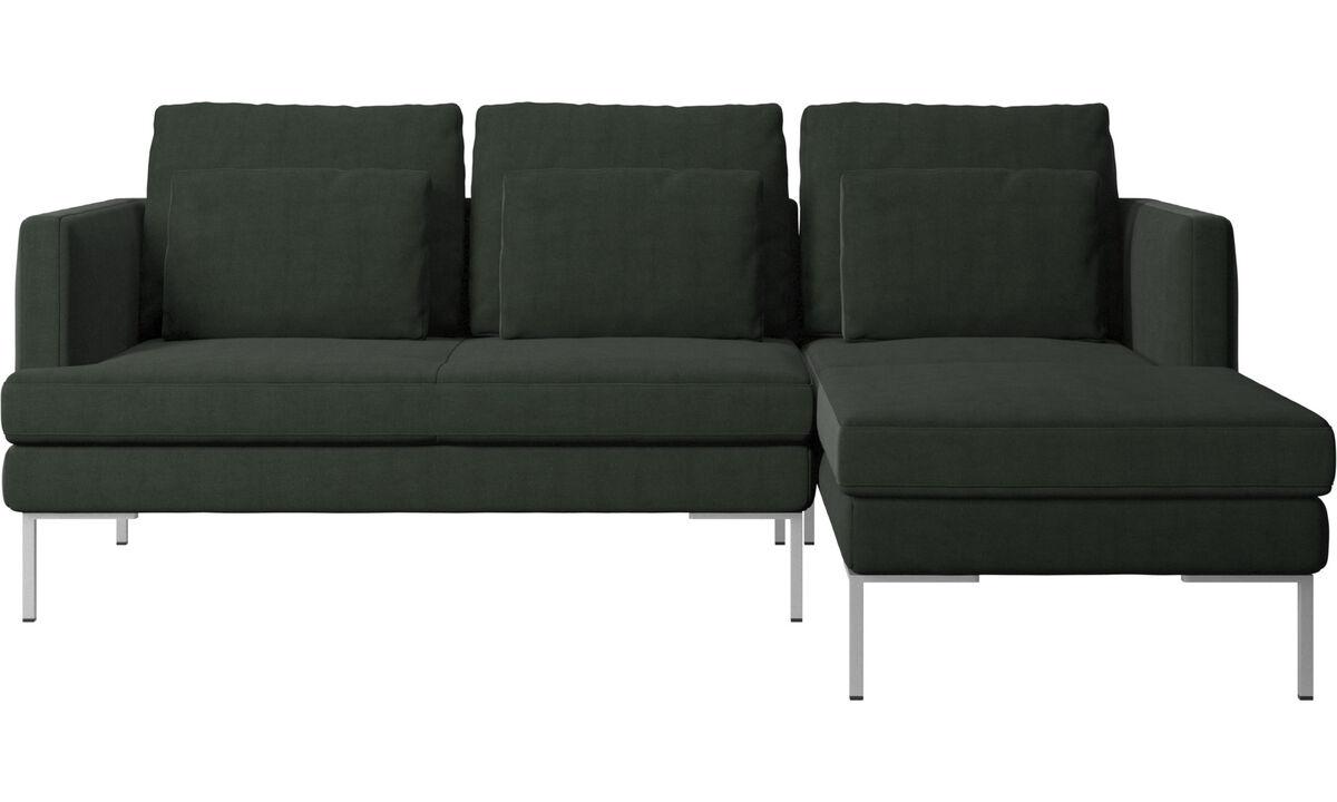Sofás con chaise longue - Sofá Istra 2 con módulo chaise-longue - En verde - Tela